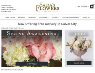 sadasflowers.com screenshot