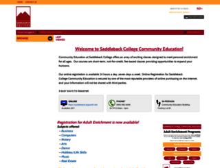 saddleback.augusoft.net screenshot