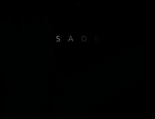sade.com screenshot