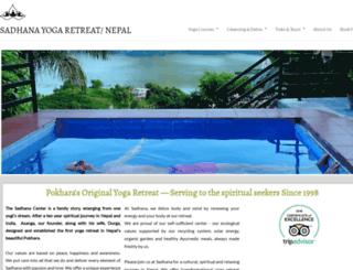 sadhana-asanga-yoga.com screenshot