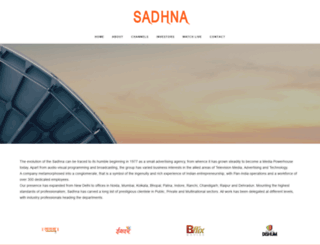 sadhna.com screenshot