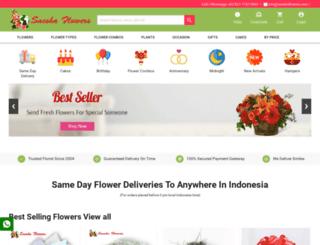 saeshaflowers.com screenshot