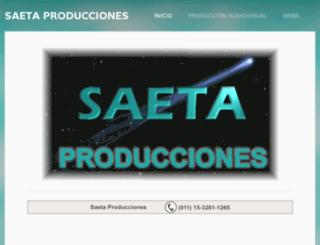 saetaproducciones.com.ar screenshot