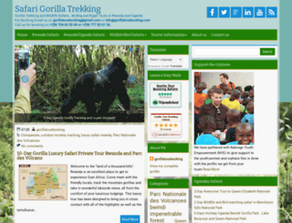 safarigorillatrekking.com screenshot
