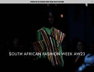 safashionweek.co.za screenshot