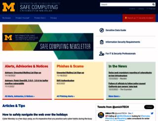 safecomputing.umich.edu screenshot