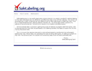 safelabeling.com screenshot