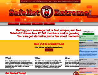 safelistextreme.com screenshot