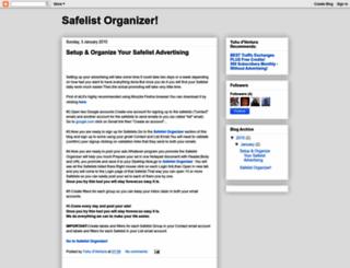safelistorganizer.blogspot.hr screenshot
