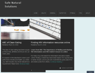 safenaturalsolutions.info screenshot