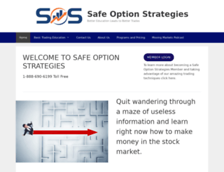 safeoptionstrategies.com screenshot