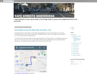 safestreetsnorthridge.blogspot.com screenshot