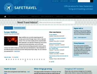 safetravel.govt.nz screenshot