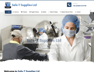 safetsupplies.co.uk screenshot