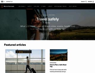 safety.worldnomads.com screenshot