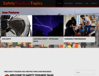 safetytoolboxtalks.com screenshot