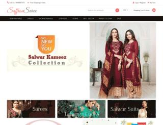 saffronsaree.com screenshot