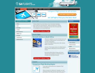 saflights.co.za screenshot