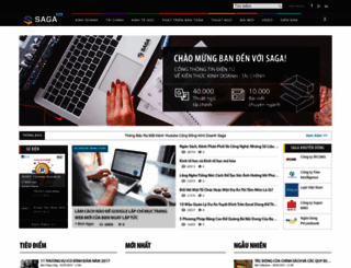 saga.vn screenshot