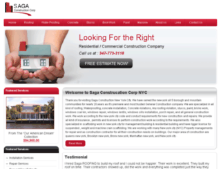 sagaconstructionnyc.com screenshot
