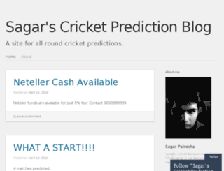 sagarcricketpredictions.com screenshot