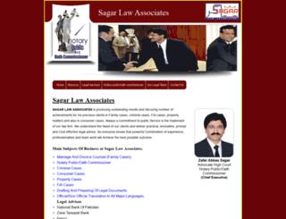 sagarlawassociates.com screenshot
