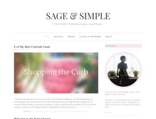 sageandsimple.com screenshot