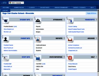 sageoakriverside.plsis.com screenshot