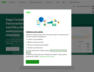sageone.es screenshot