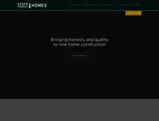 sagerfamilyhomes.com screenshot