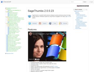 sagethumbs.sourceforge.net screenshot