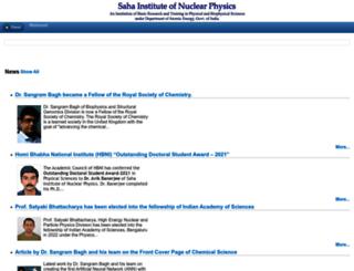 saha.ac.in screenshot
