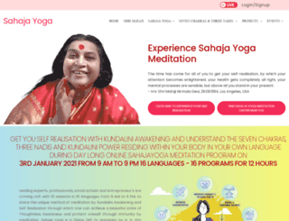 sahajayoga.org.in screenshot