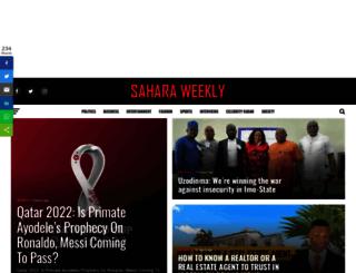 saharaweeklyng.com screenshot