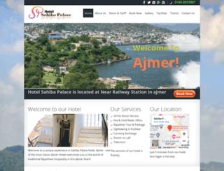 sahibapalaceajmer.com screenshot