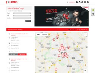 sahibautomobileshero.heromotocorpdealers.com screenshot