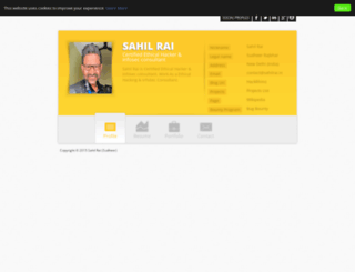 sahilrai.in screenshot
