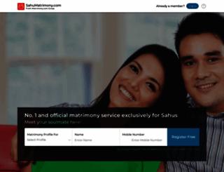 sahumatrimony.com screenshot