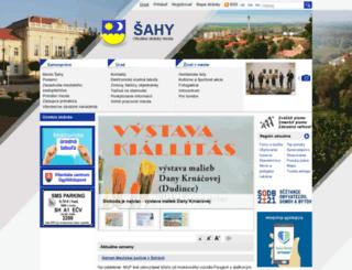 sahy.sk screenshot