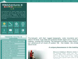 sahyadri.himadventures.net screenshot
