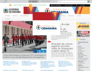 saia.pb.gov.br screenshot