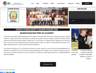 saidaiduraisamysmanidhaneyam.com screenshot