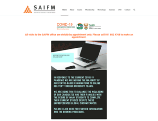 saifm.co.za screenshot