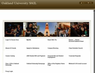 sail.oakland.edu screenshot