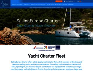 sailingeuropecharter.com screenshot