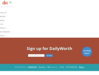 sailthru.dailyworth.com screenshot