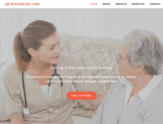 saininursingcare.com screenshot