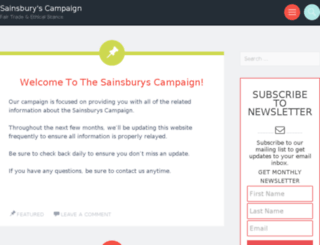 sainsburyscampaign.org screenshot