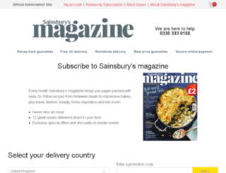 sainsburysmagazine.subscribeonline.co.uk screenshot