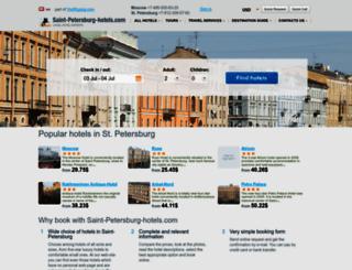 saint-petersburg-hotels.com screenshot